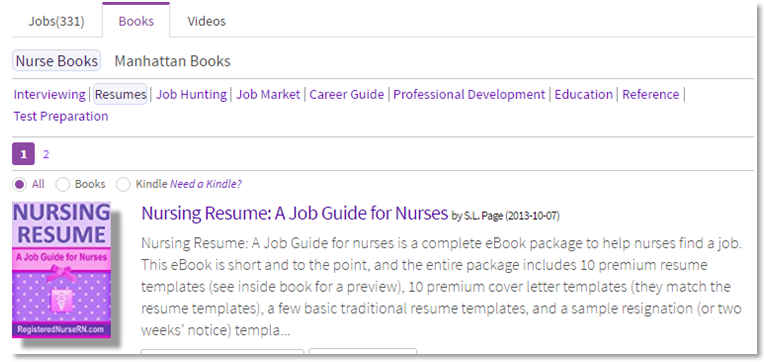 NurseResumeBooks